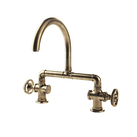 burnished brass faucet
