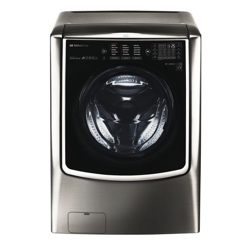 a gray front load washing machine
