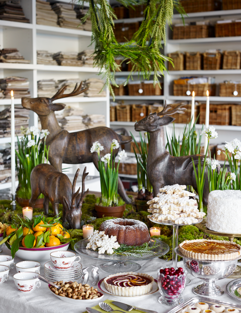 decorating ideas for christmas buffet table