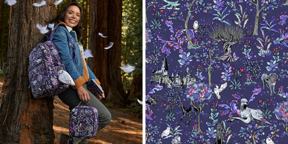 Vera Bradley Just Released Its Third 'Harry Potter' Collection With a New Forbidden Forest Pattern