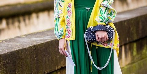 Green, Street fashion, Yellow, Fashion, Outerwear, Dress, Textile, Headgear, Photography, Tradition,