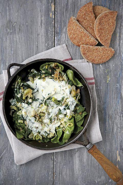 Verduras con yogur