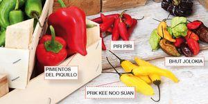 Verduras picantes: chiles, guindillas