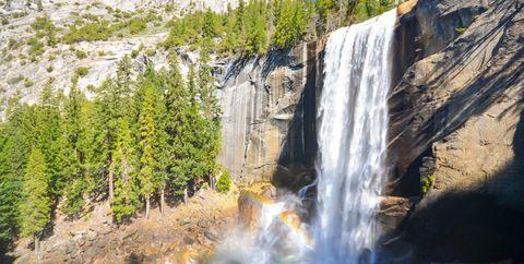 vernal falls, yosemite national park, ca, usa