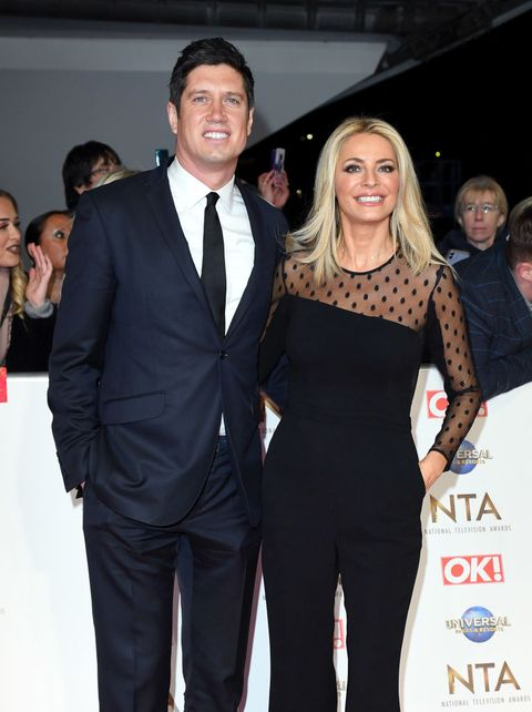 london, england   january 28 vernon kaye and tess daly attends the national television awards 2020 at the o2 arena on january 28, 2020 in london, england photo by karwai tangwireimage