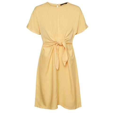 vero moda geknoopte gele jurk