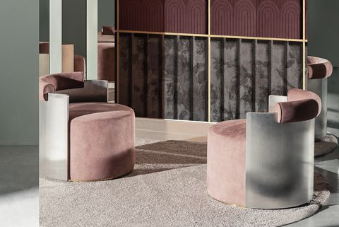 'Vers L'est' wall and deco by Giovanni Pesce