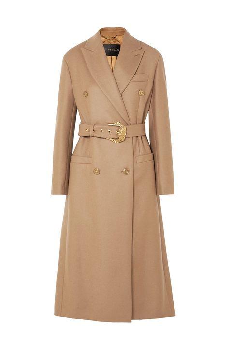 Versace western belt camel coat