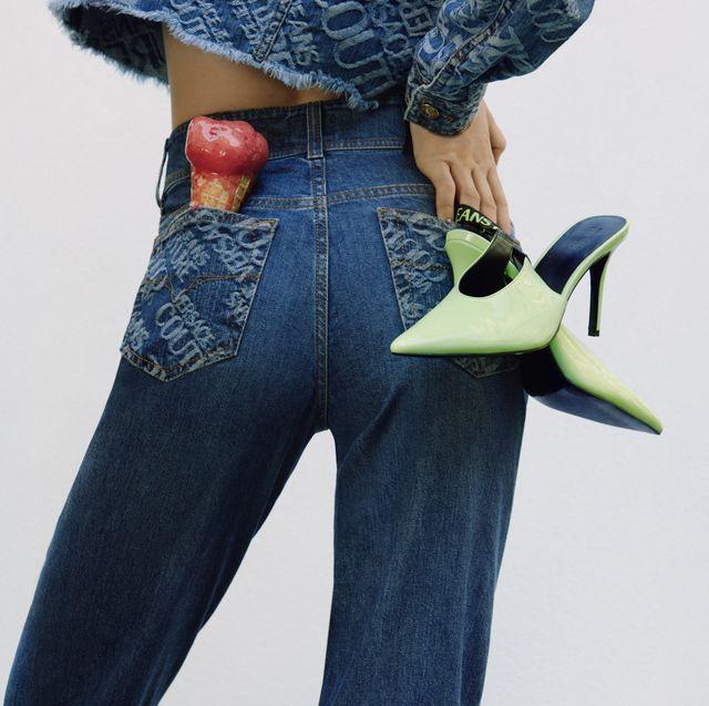 Blue, Denim, Textile, Joint, Pocket, Waist, Electric blue, Wallet, Fashion design, Belt,
