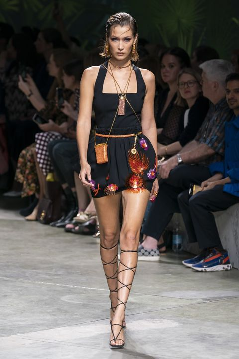 bella hadid versace ss20 milan fashion week