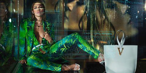 Green, Display window, Light, Display case, Fashion, Design, Window, Night, Glass, Digital compositing,