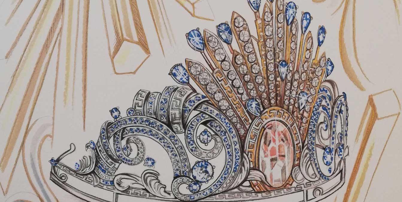 Donatella Versace has designed a tiara for the Vienna Opera Ball
