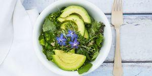 Verschillende soorten sla in een gezonde salade