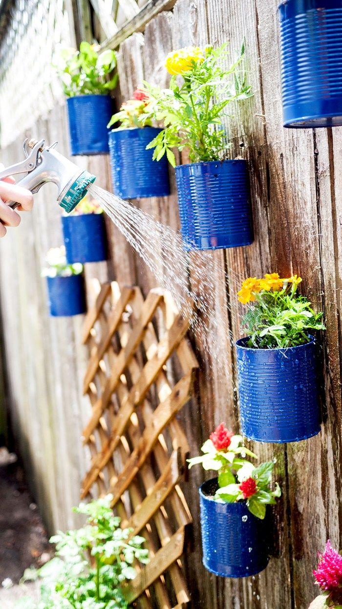 vertical gardens cans