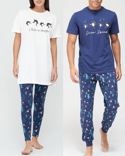 his and hers christmas pyjamas