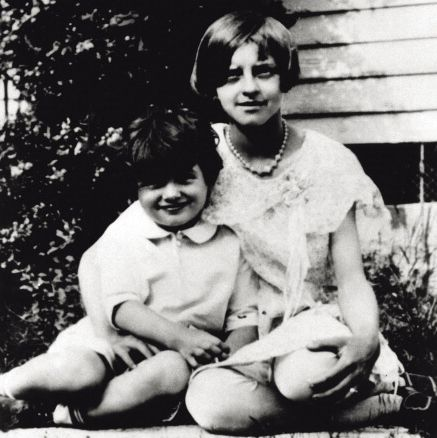 rock hudson as a child with his aunt