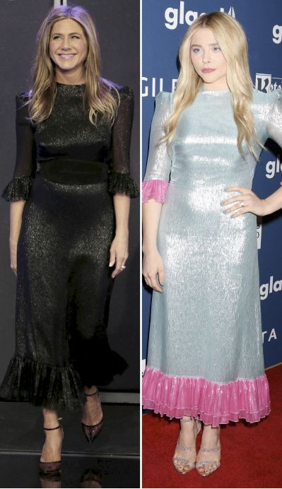 Famosas vestidas igual: Jennifer Aniston y Chloë Moretz