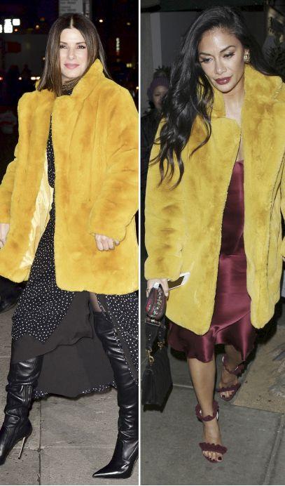 Famosas vestidas igual: Sandra Bullock y Nicole Scherzinger