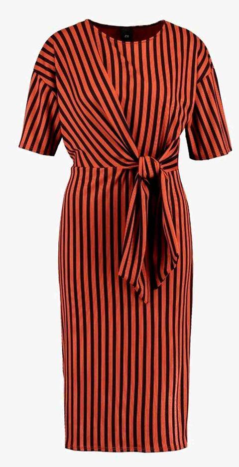 Moda de Halloween, vestido de rayas de River Island