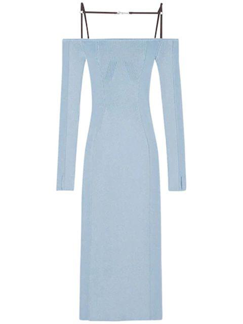 Jacquemus blue dress like the one Karlie Kloss has