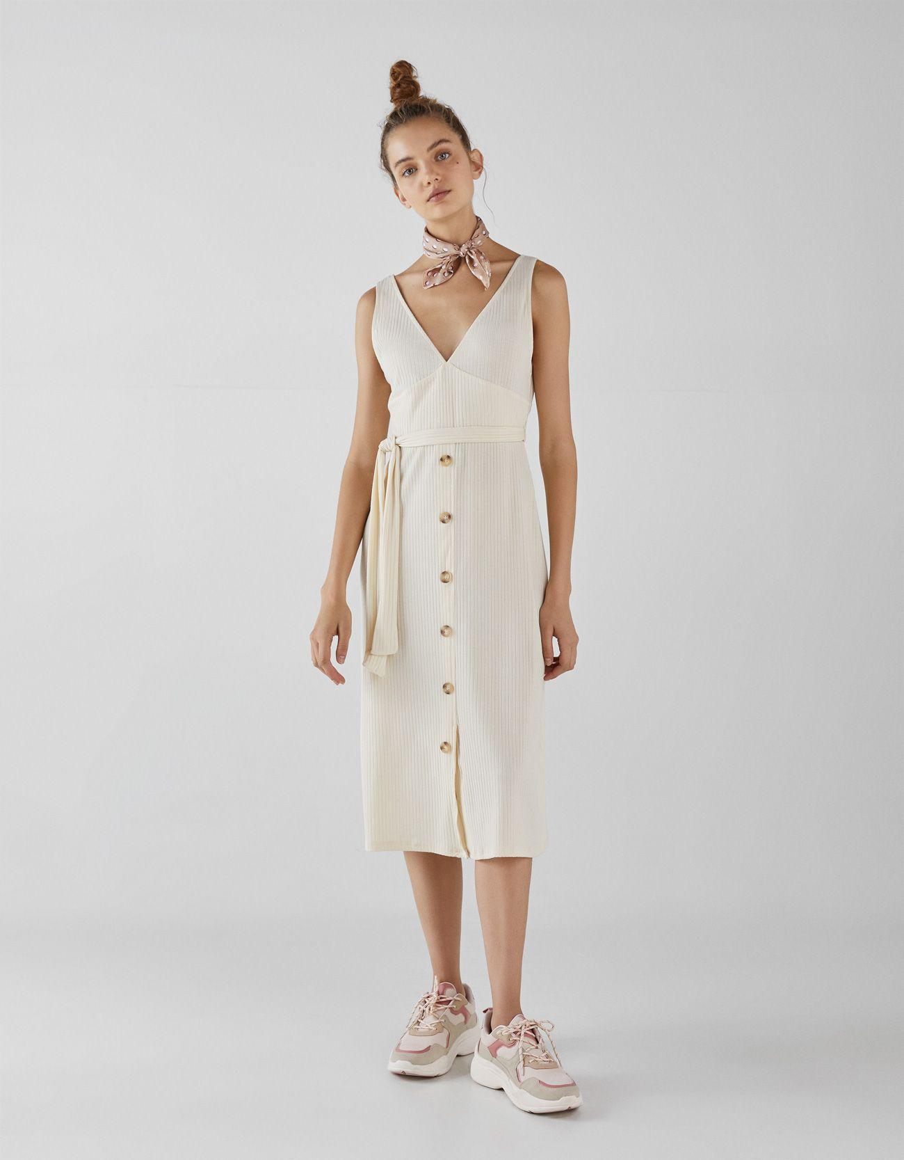 Vestido blanco sara carbonero