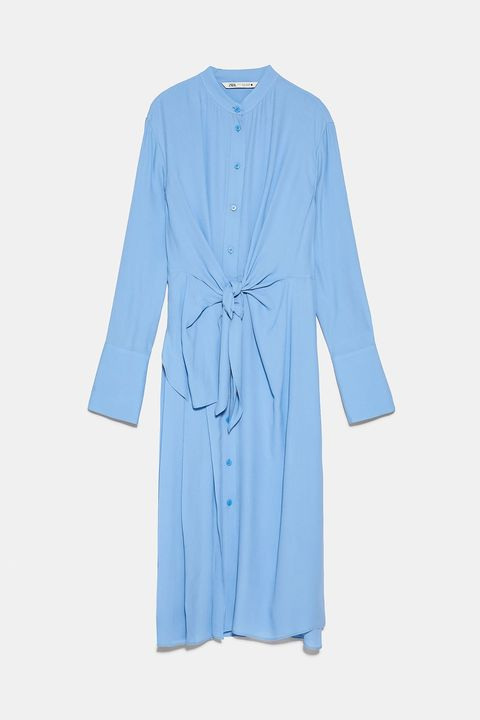 Clothing, Blue, Robe, Nightwear, Outerwear, Sleeve, Turquoise, Dress, Day dress, Costume,