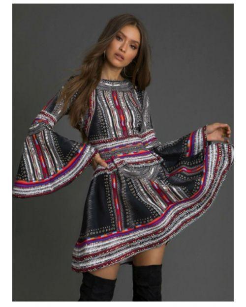 vestido étnico capriche