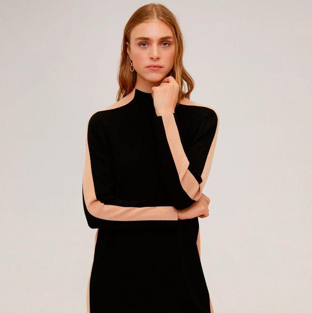 el vestido corto de punto de mango outlet que hace más delgada