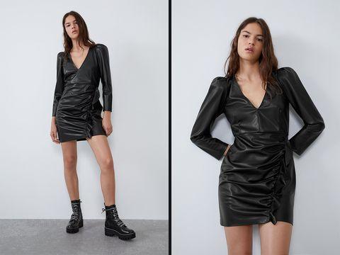 materiales superiores descuento más bajo precio favorable El vestido de cuero negro más sexy de Zara