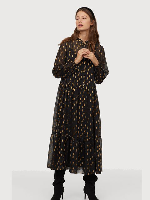 Clothing, Outerwear, Dress, Sleeve, Coat, Pattern, Fur, Fashion, Neck, Overcoat,