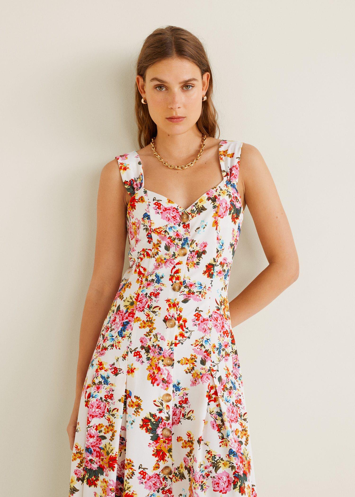 Este Vestido De Flores De Mango Es Tan Tan Bonito Que Vas A