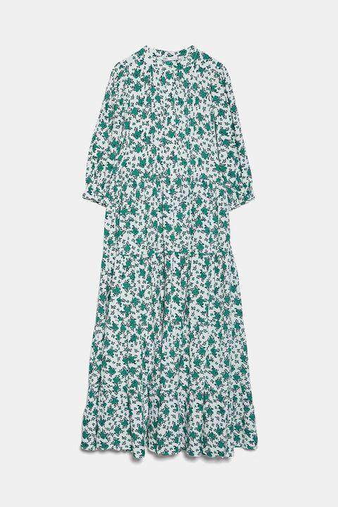 Vestido floral de Zara