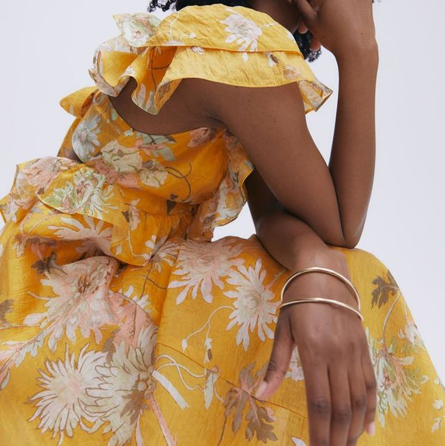 vestido con estampado floral de hm