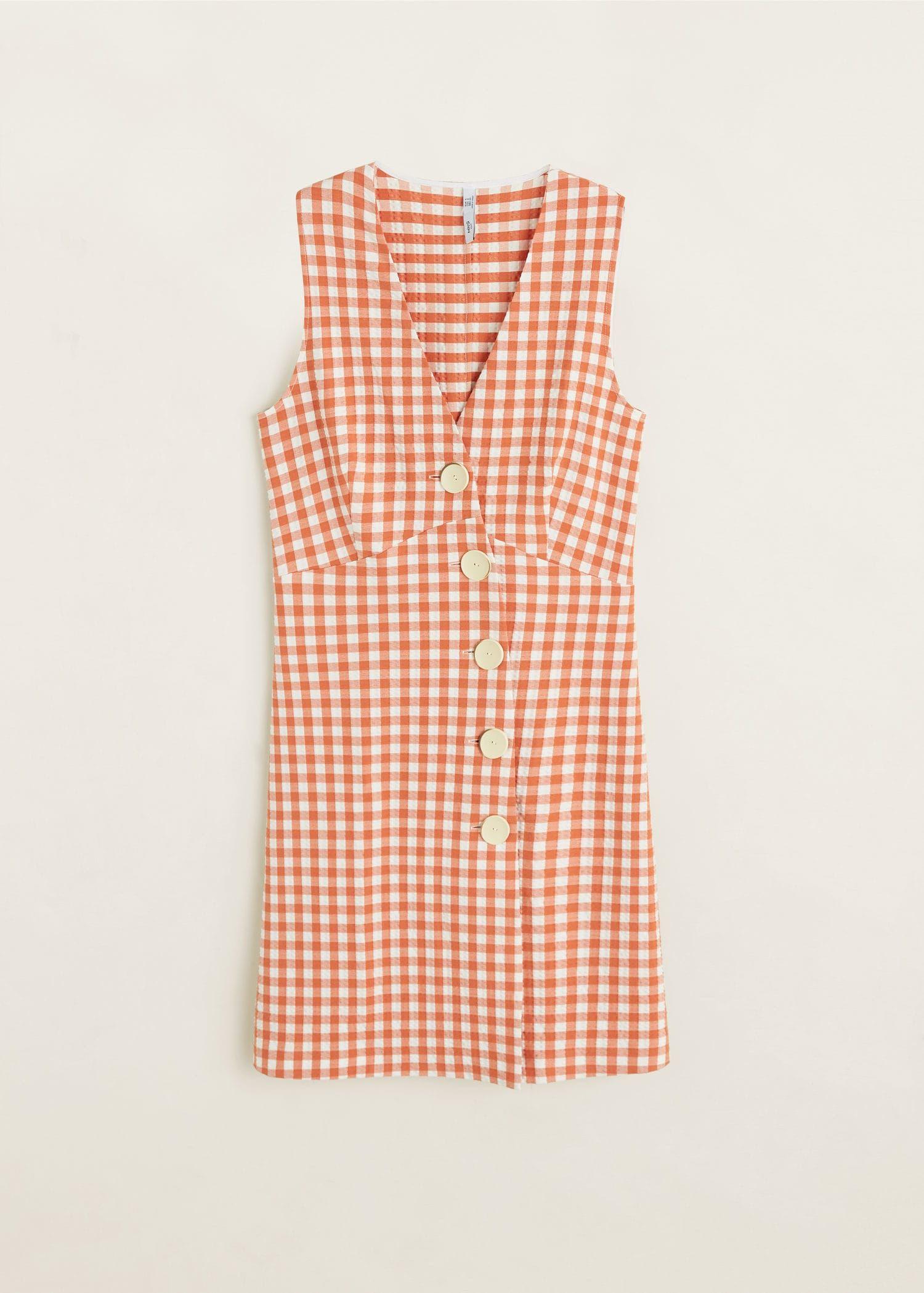 tiendas populares gran inventario entrega gratis Este vestido de Mango de cuadros es ideal para el verano
