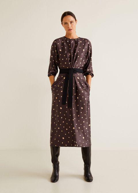 tienda de liquidación disfruta el precio de liquidación zapatos de separación El vestido midi de lunares de Mango Outlet perfecto