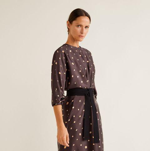 baratas para la venta zapatos clasicos Tienda online El vestido midi de lunares de Mango Outlet perfecto