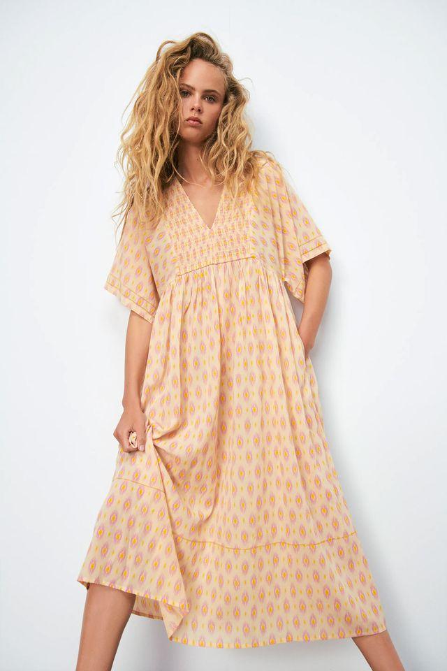 vestido tipo túnica de zara