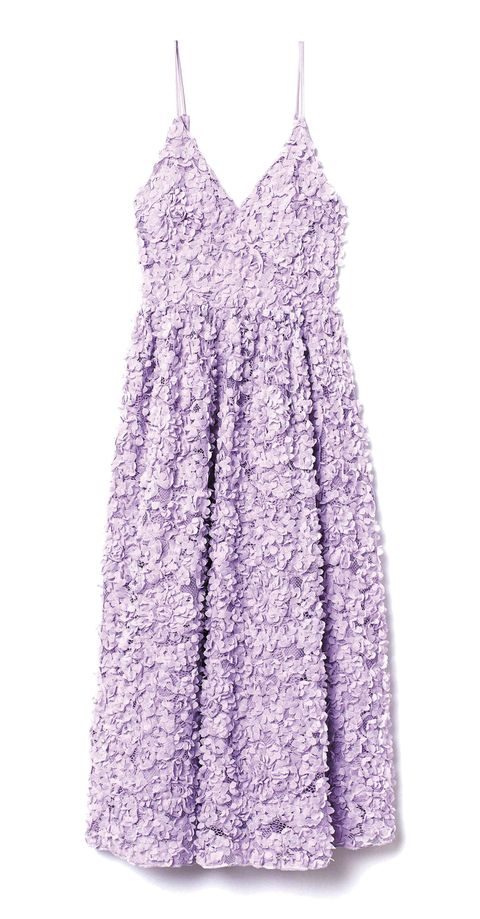 vestido morado de hm,  89,99 €