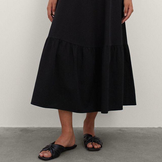 vestido negro de parfois
