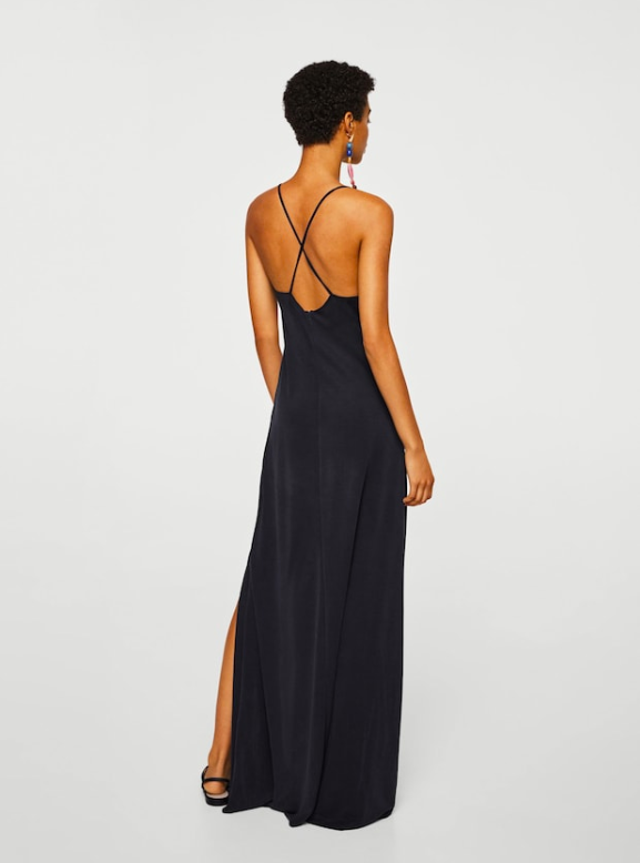 Vestidos negro mango