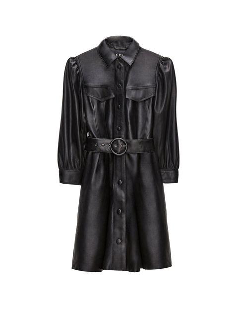 vestido negro basico mujer