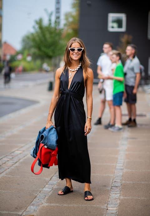 vestido negro zara mango tendencia verano