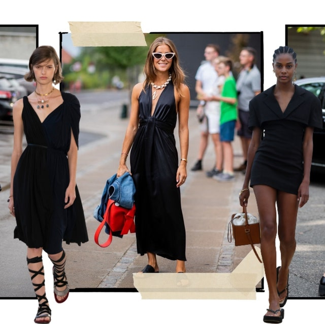 vestidos negros zara verano tendencia mango