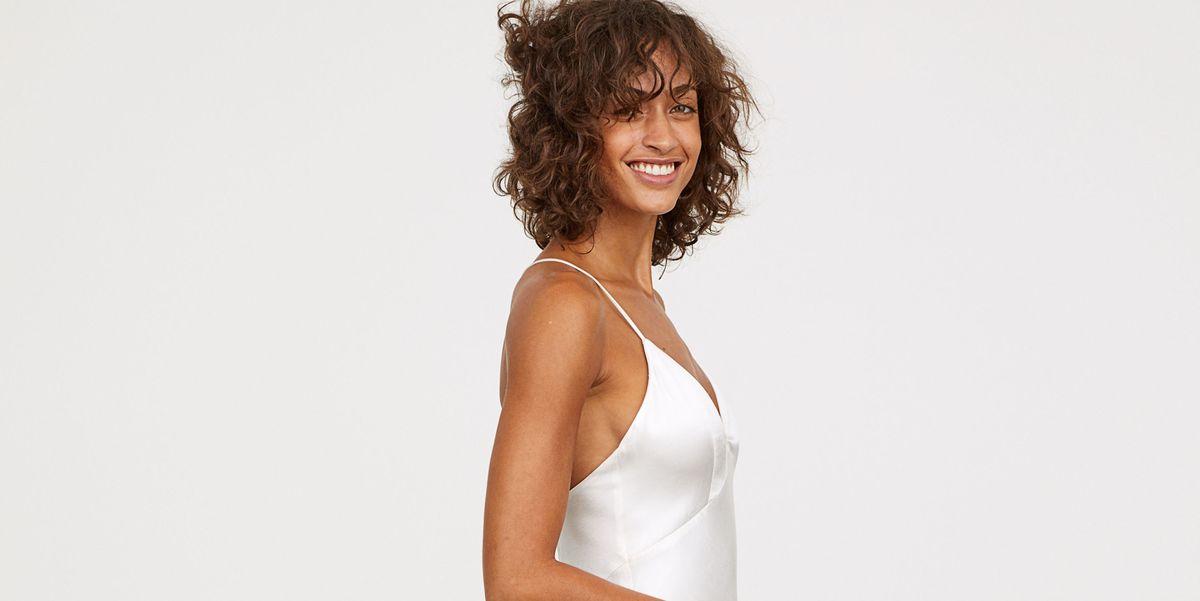 h&m vende un nuevo vestido de novia muy barato y de estilo lencero