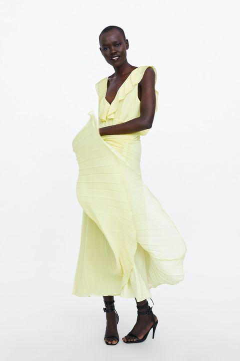 fábrica auténtica estilo de moda obtener online El vestido plisado de Zara tendencia que puedes elegir en ...