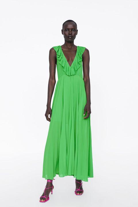 Buenos precios modelos de gran variedad ahorre hasta 60% El vestido plisado de Zara tendencia que puedes elegir en ...