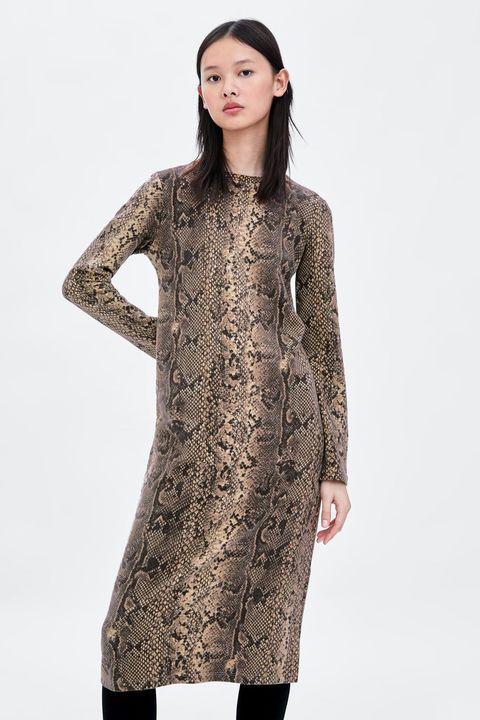 Vestido Zara serpiente