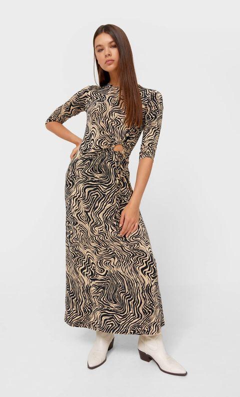 vestido cut out stradivarius
