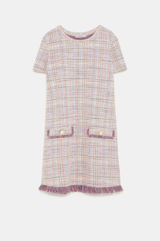 vestido tweed zara