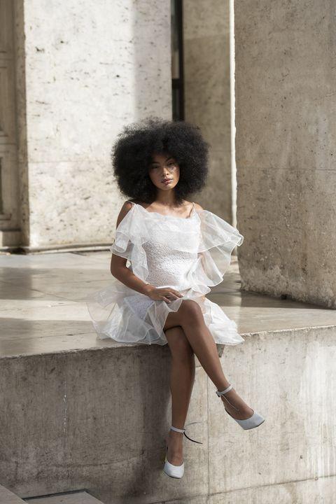 Street Style : Paris Fashion Week - Womenswear Spring Summer 2020 : Day Five